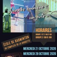 École de badminton pendant les vacances.